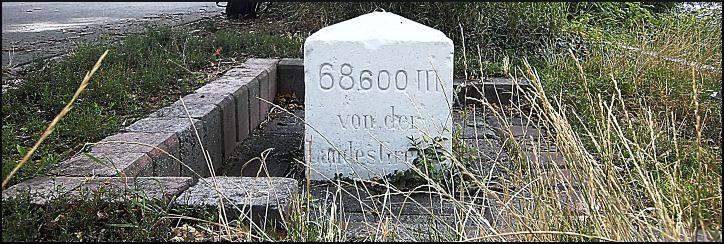 Myriameterstein zur Rheinkilometrierung, Budenheim