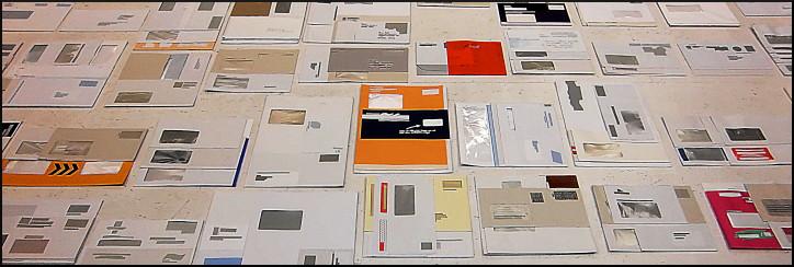 """Installation """"Zustelltage"""", Gerhard Meerwein, Haus Burgund, Flachsmarktstraße"""