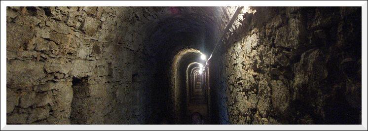 Zitadelle, Escarpengalerie unter der Bastion Drusus