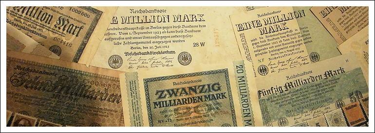 Inflationsgeldscheine, Museum Castellum, Reduit