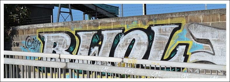 Name-Tag eines Graffiti-Künstlers
