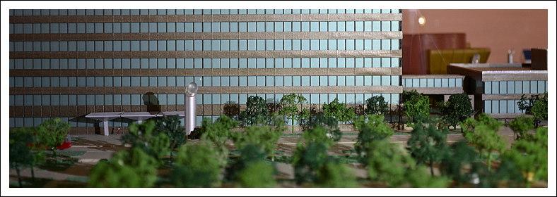 Modell des ZDF-Verwaltungsgebäudes