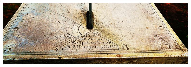 Sonnenuhr, Joseph Aufleger, 1838