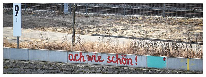 Das Bild zeigt ein Graffito auf einer Mauer