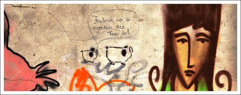 Das Bild zeigt ein Graffito